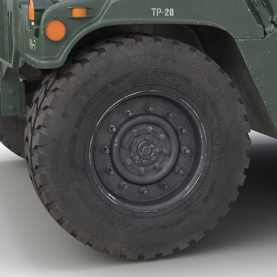 Humvee royalty-free 3d model - Preview no. 27