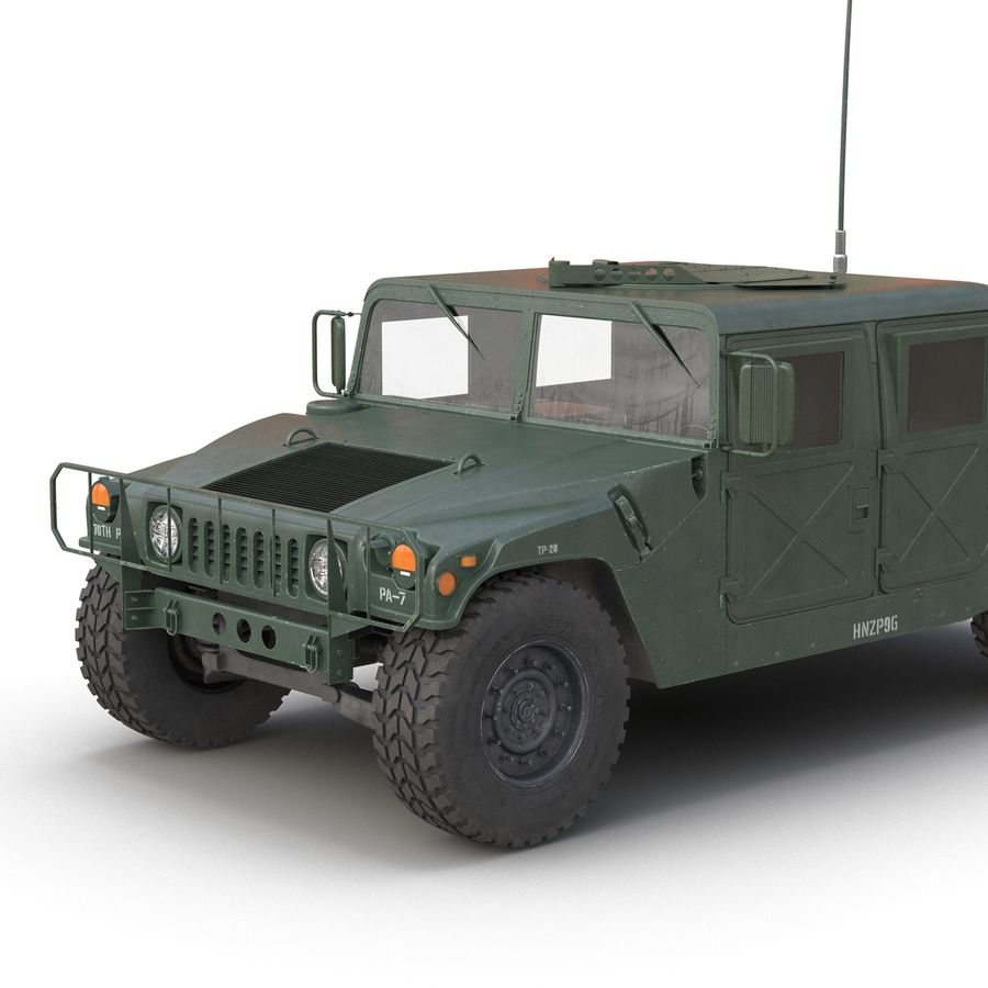 Humvee royalty-free 3d model - Preview no. 16