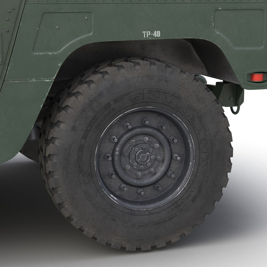 Humvee royalty-free 3d model - Preview no. 29