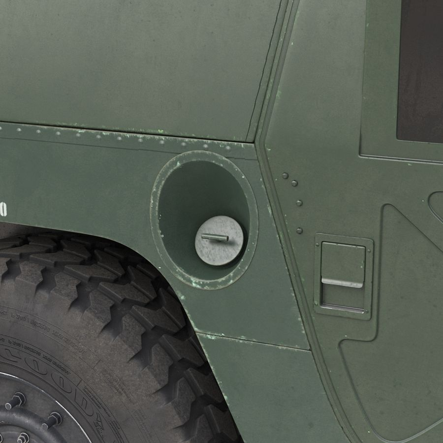 Humvee royalty-free 3d model - Preview no. 37