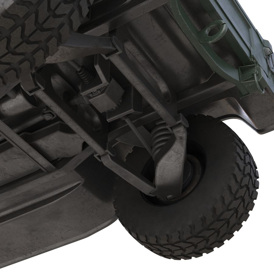 Humvee royalty-free 3d model - Preview no. 28