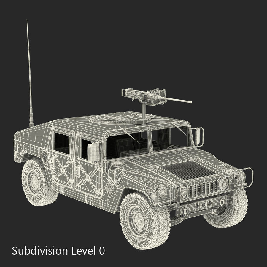 Humvee royalty-free 3d model - Preview no. 46