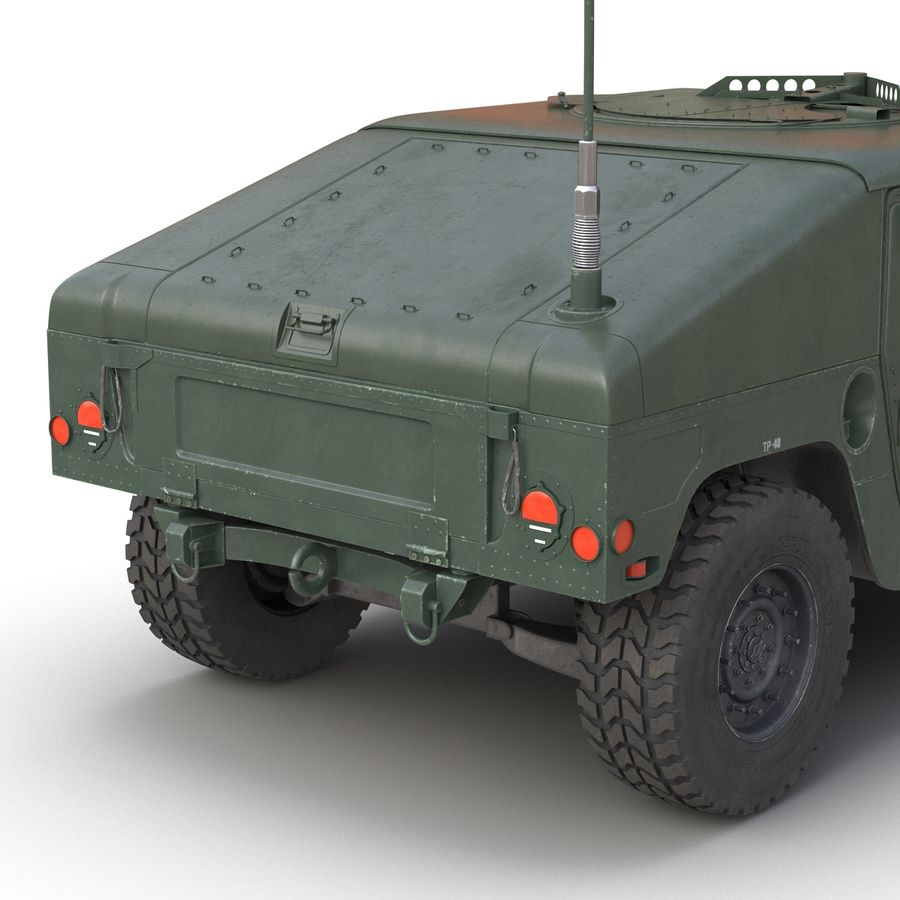 Humvee royalty-free 3d model - Preview no. 23