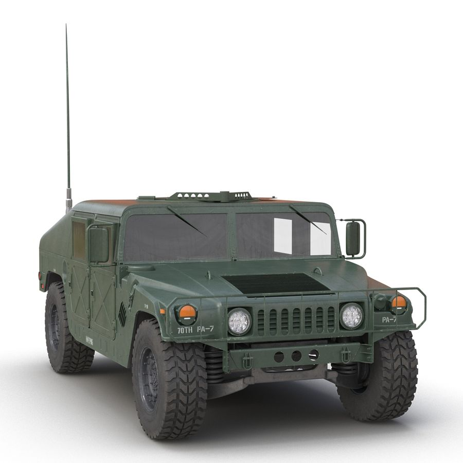 Humvee royalty-free 3d model - Preview no. 10