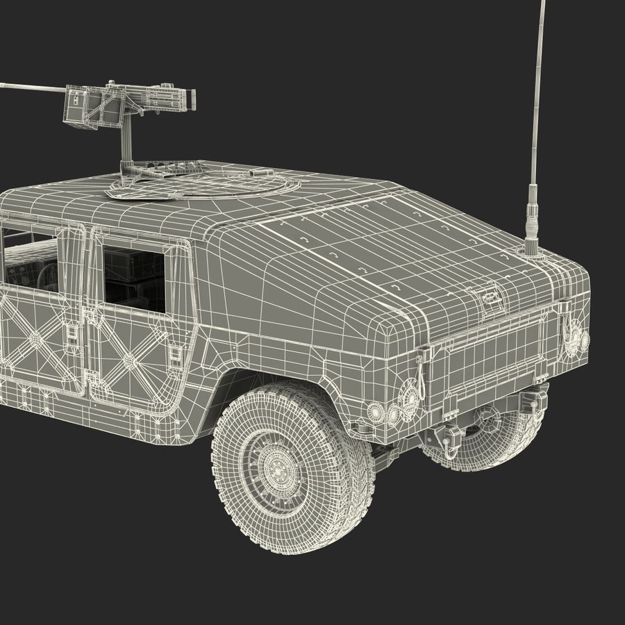 Humvee royalty-free 3d model - Preview no. 58