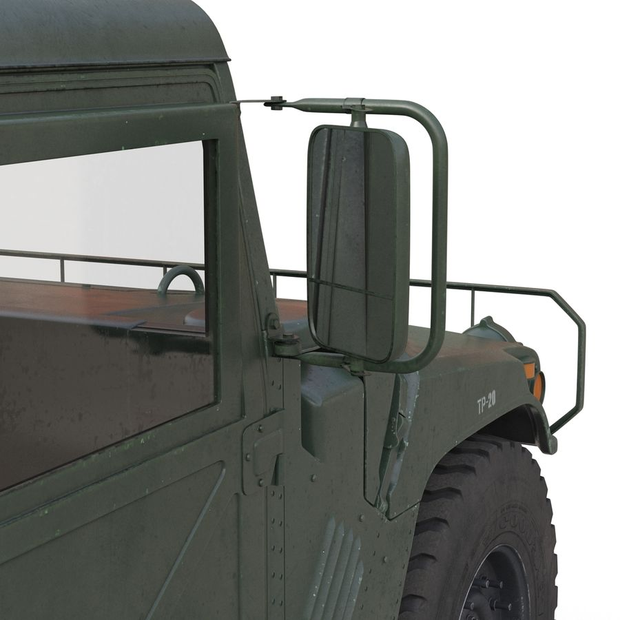 Humvee royalty-free 3d model - Preview no. 33