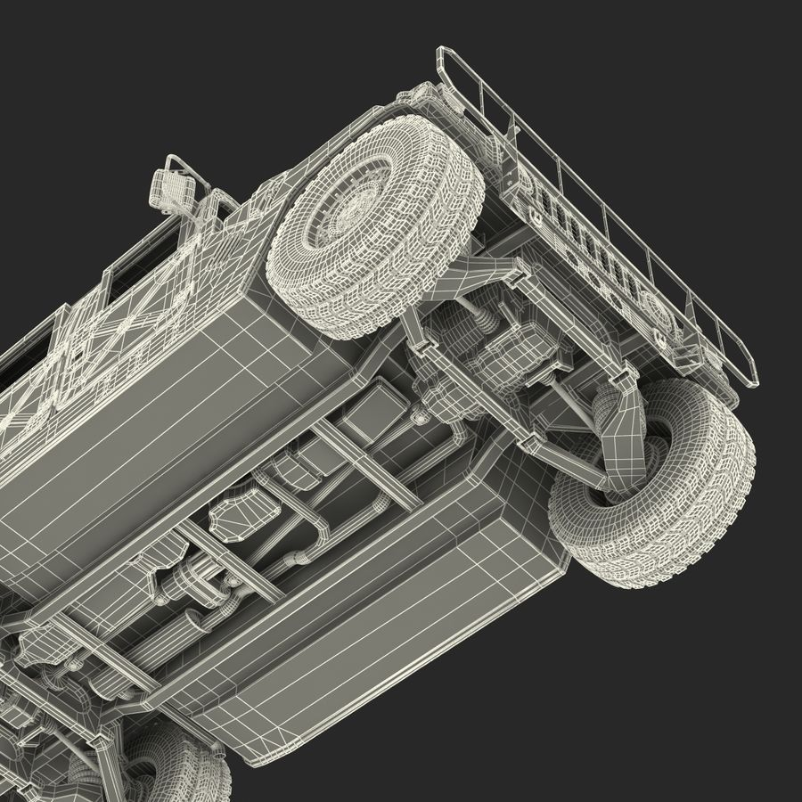 Humvee royalty-free 3d model - Preview no. 57