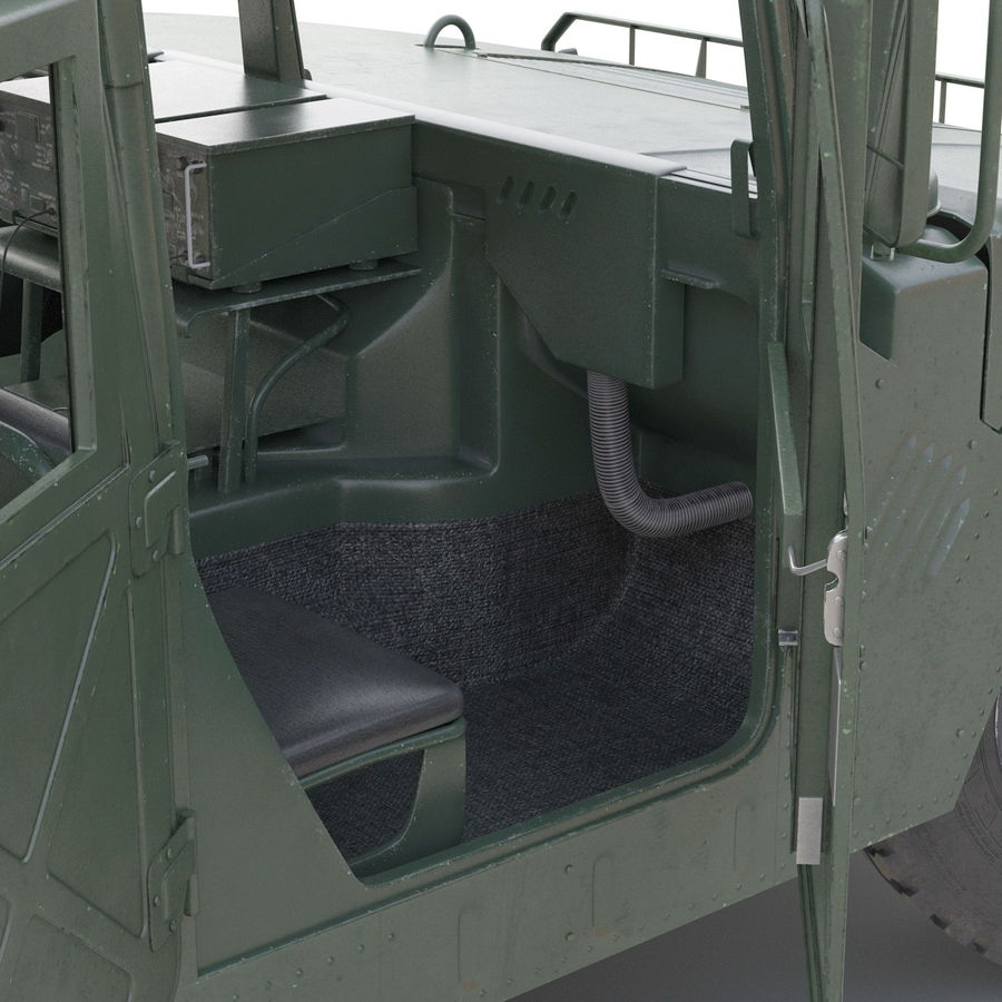 Humvee royalty-free 3d model - Preview no. 40