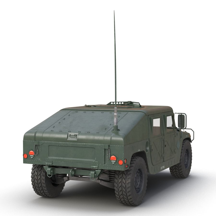 Humvee royalty-free 3d model - Preview no. 11