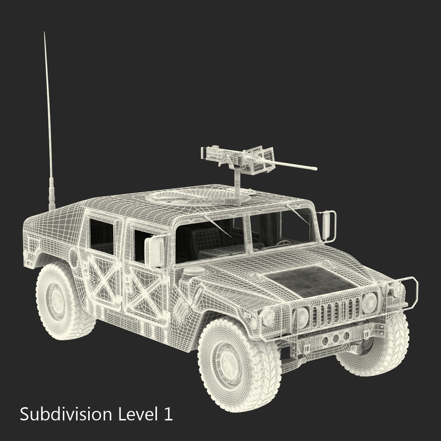 Humvee royalty-free 3d model - Preview no. 47