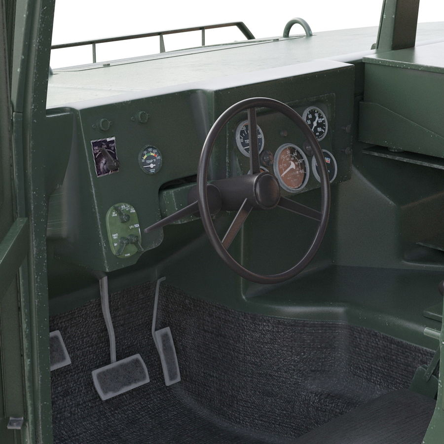 Humvee royalty-free 3d model - Preview no. 43