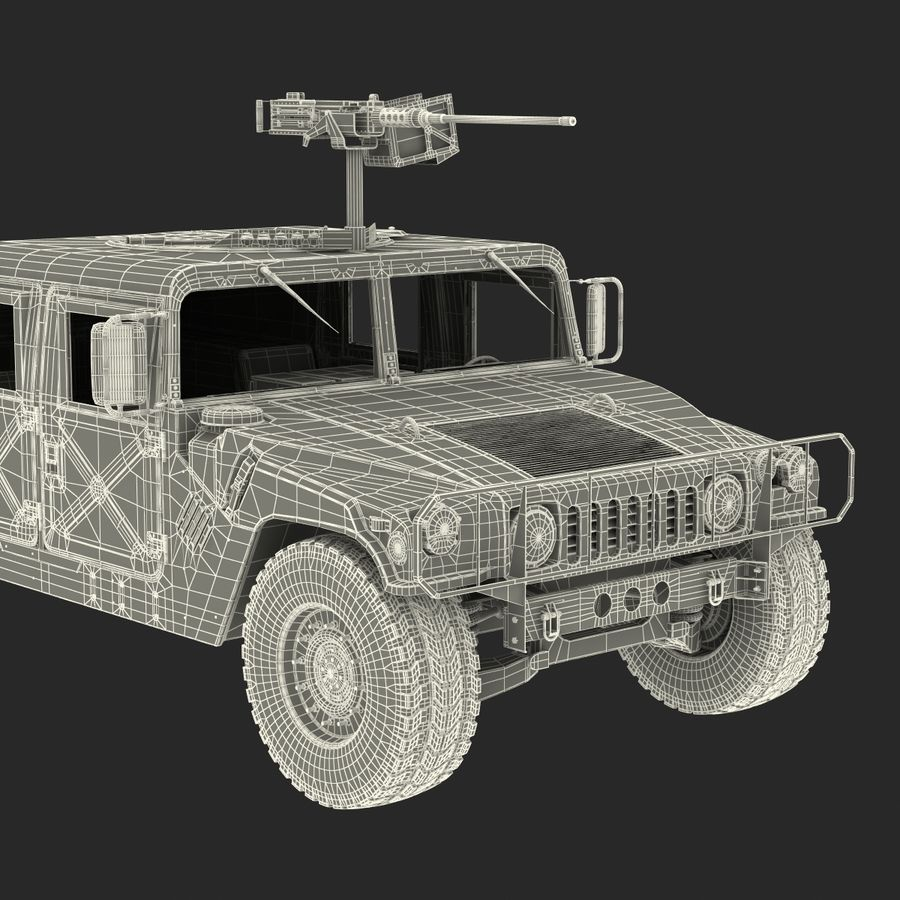Humvee royalty-free 3d model - Preview no. 56