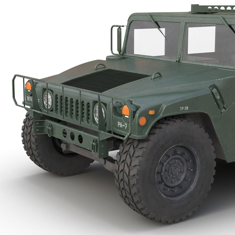Humvee royalty-free 3d model - Preview no. 22