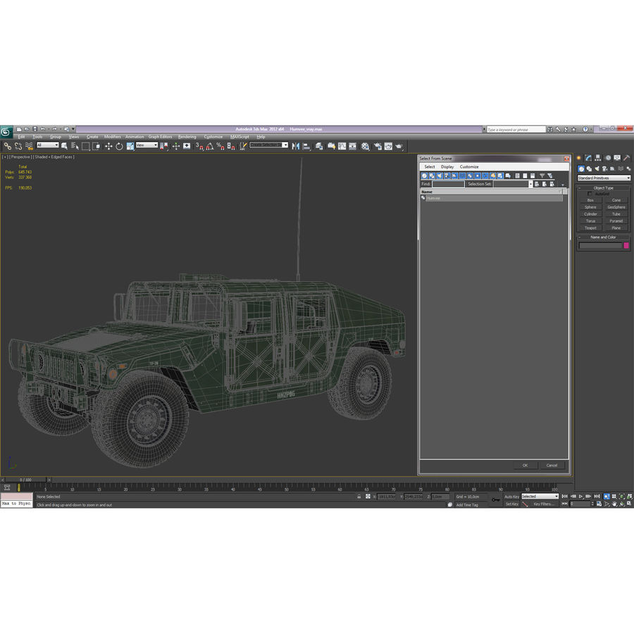 Humvee royalty-free 3d model - Preview no. 52