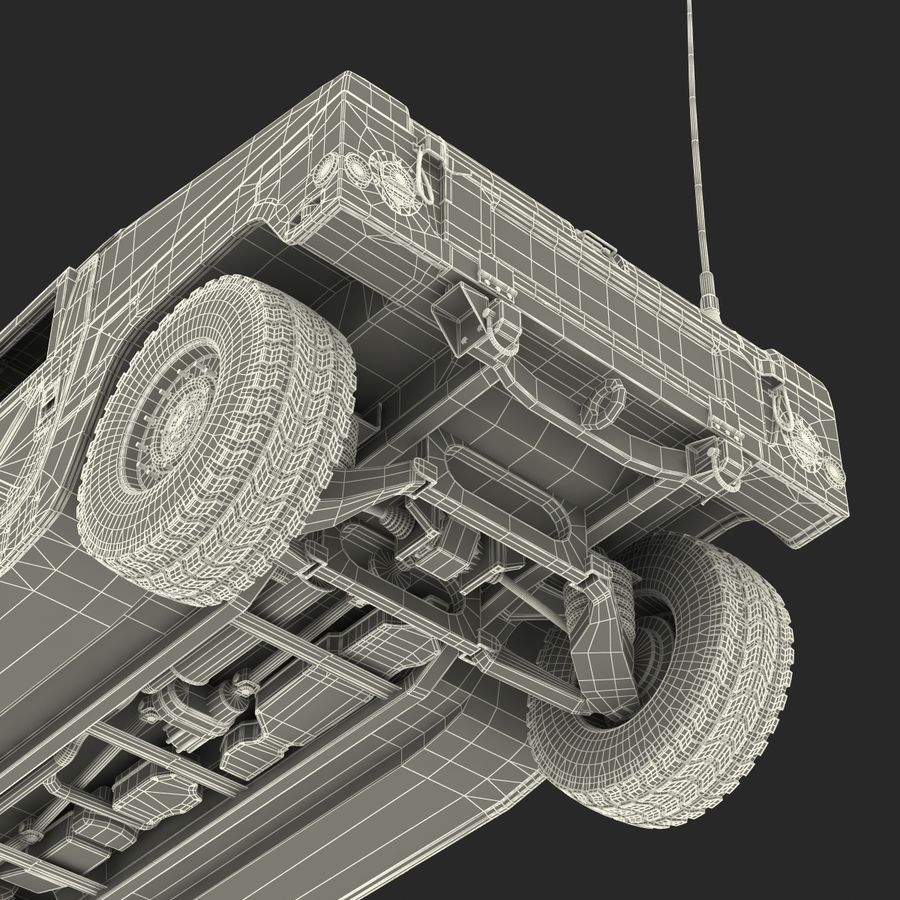Humvee royalty-free 3d model - Preview no. 60