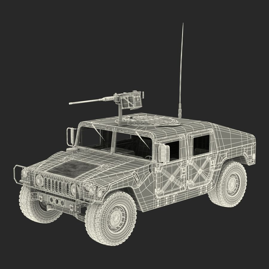 Humvee royalty-free 3d model - Preview no. 53