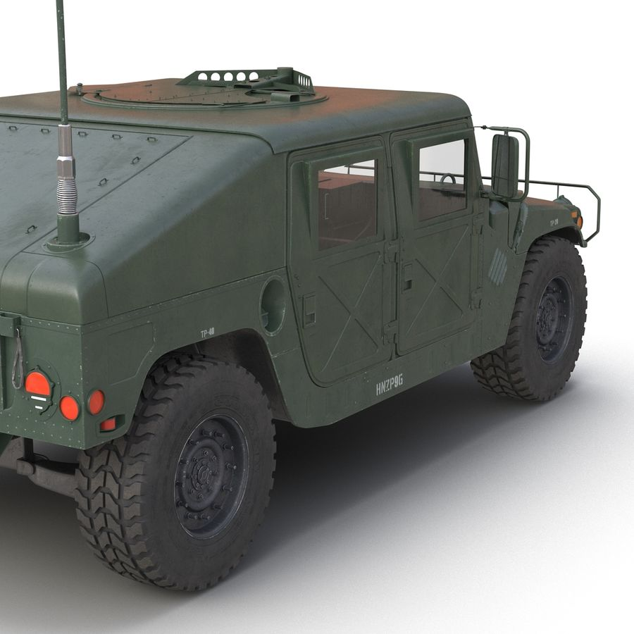 Humvee royalty-free 3d model - Preview no. 21