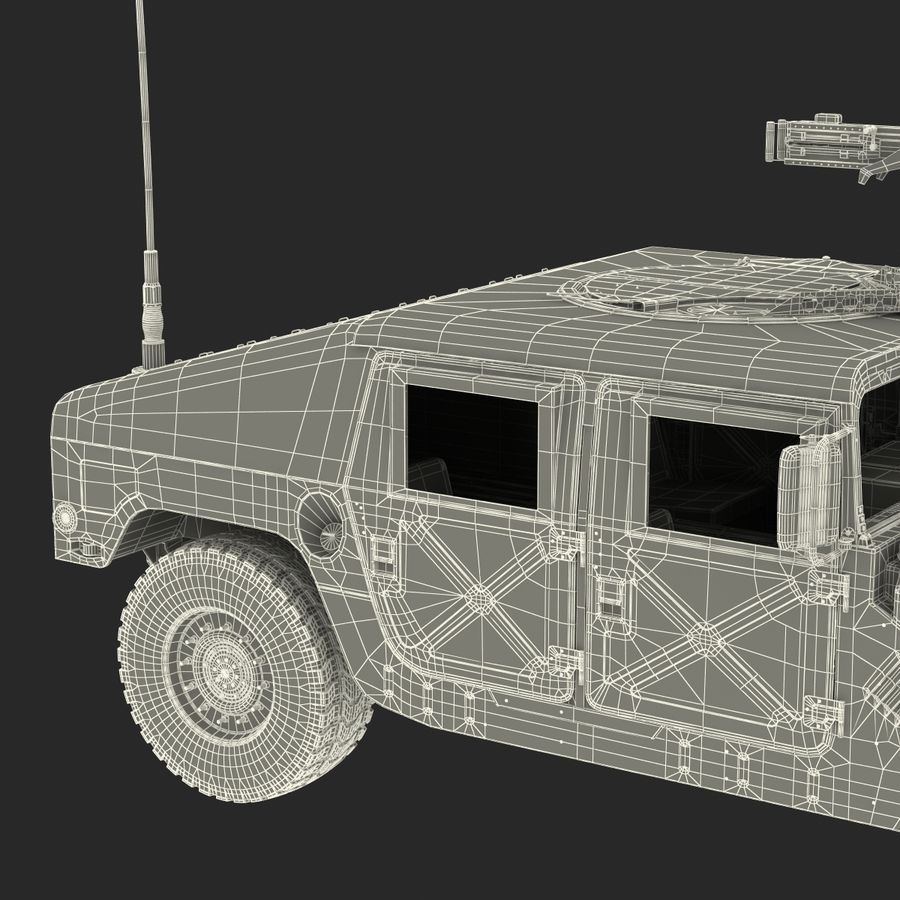 Humvee royalty-free 3d model - Preview no. 59