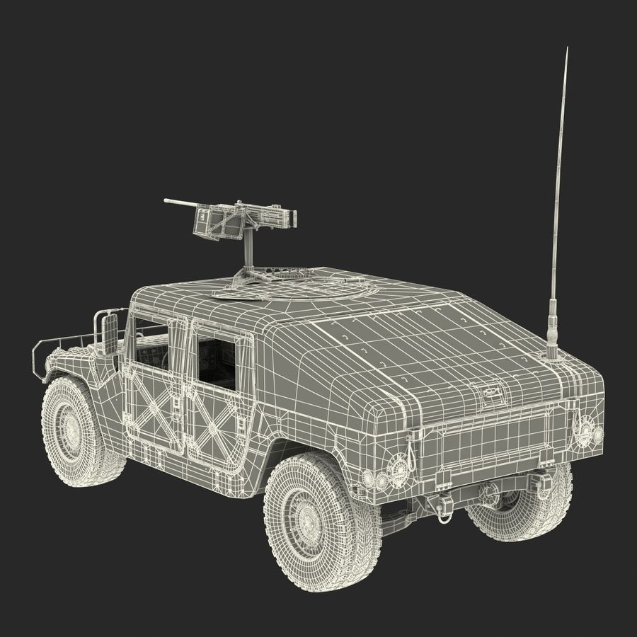 Humvee royalty-free 3d model - Preview no. 54