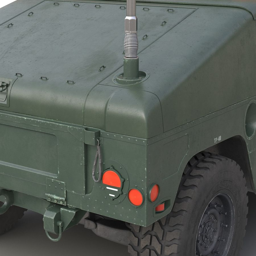 Humvee royalty-free 3d model - Preview no. 31