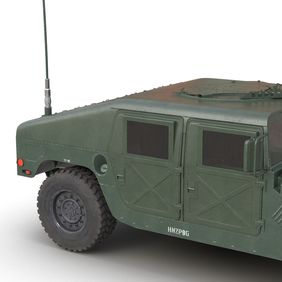 Humvee royalty-free 3d model - Preview no. 18