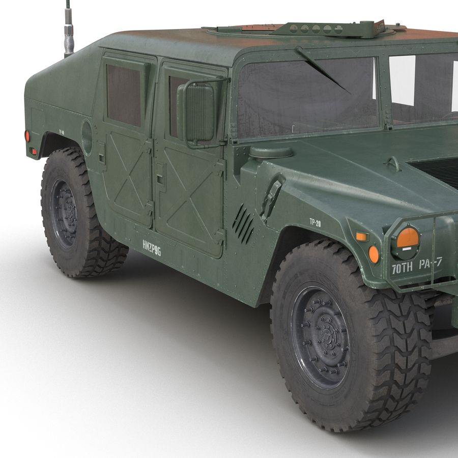 Humvee royalty-free 3d model - Preview no. 20