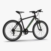 Mountainbike Schwarz 3d model