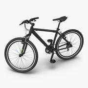 Mountain Bike Generic Black Rigged 3d model