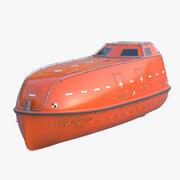 Bote salvavidas modelo 3d