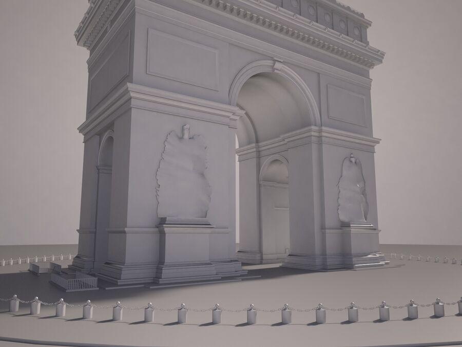 Paris Triumphal Arch royalty-free 3d model - Preview no. 13