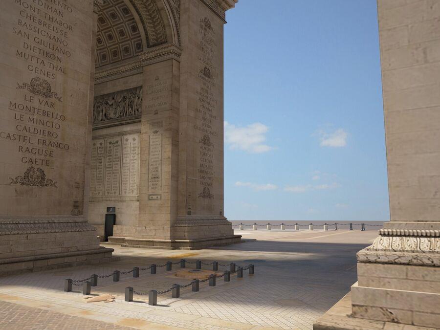 Paris Triumphal Arch royalty-free 3d model - Preview no. 4