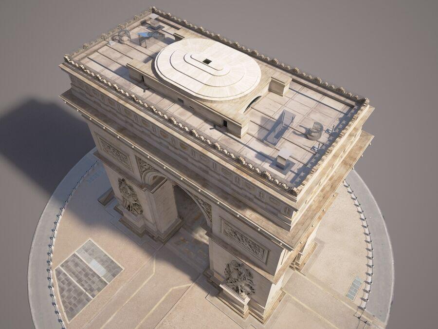 Paris Triumphal Arch royalty-free 3d model - Preview no. 9