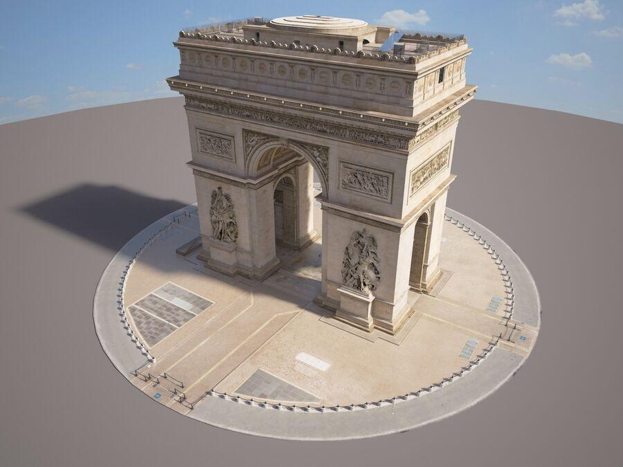 Paris Triumphal Arch royalty-free 3d model - Preview no. 2