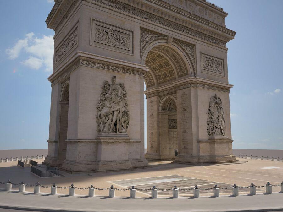 Paris Triumphal Arch royalty-free 3d model - Preview no. 5