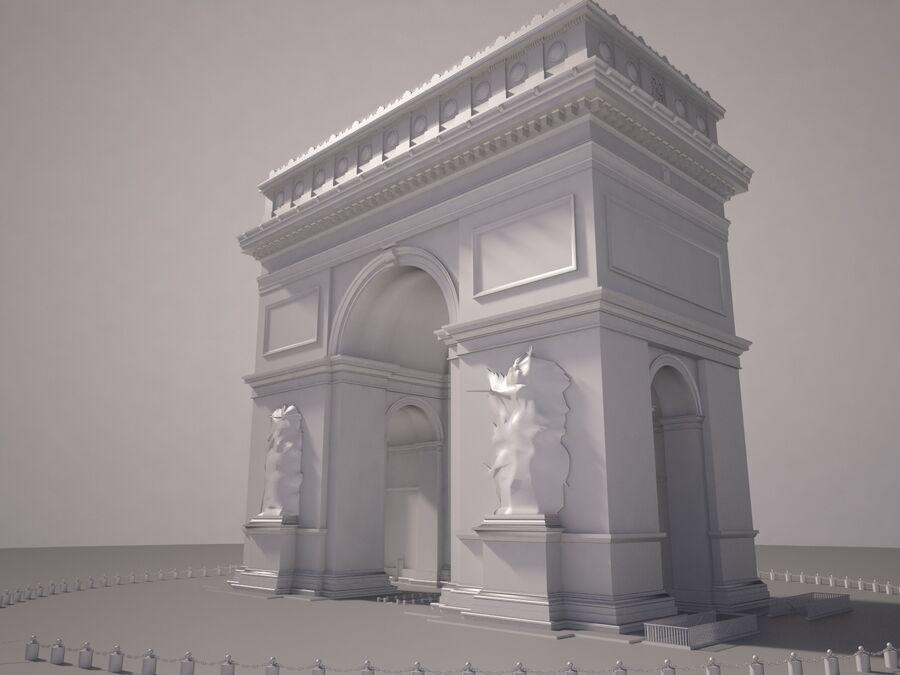 Paris Triumphal Arch royalty-free 3d model - Preview no. 12