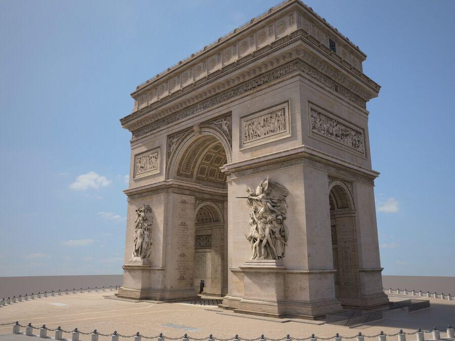 Paris Triumphal Arch royalty-free 3d model - Preview no. 3