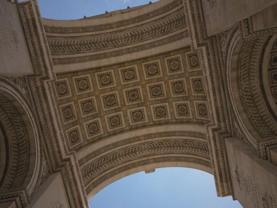 Paris Triumphal Arch royalty-free 3d model - Preview no. 7
