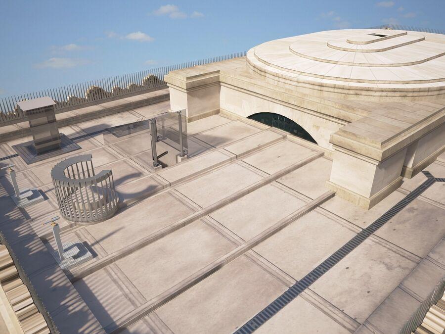 Paris Triumphal Arch royalty-free 3d model - Preview no. 8