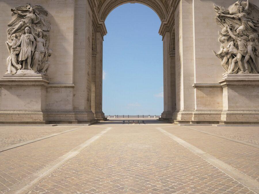 Paris Triumphal Arch royalty-free 3d model - Preview no. 6