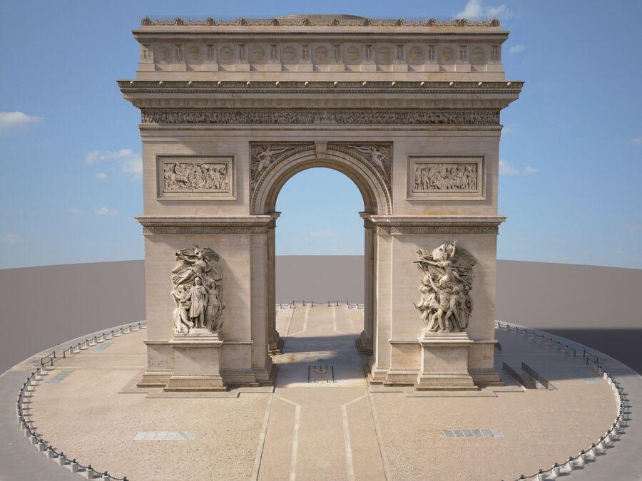 Paris Triumphal Arch royalty-free 3d model - Preview no. 1
