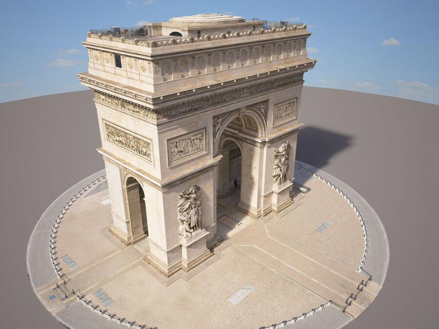 Paris Triumphal Arch royalty-free 3d model - Preview no. 10