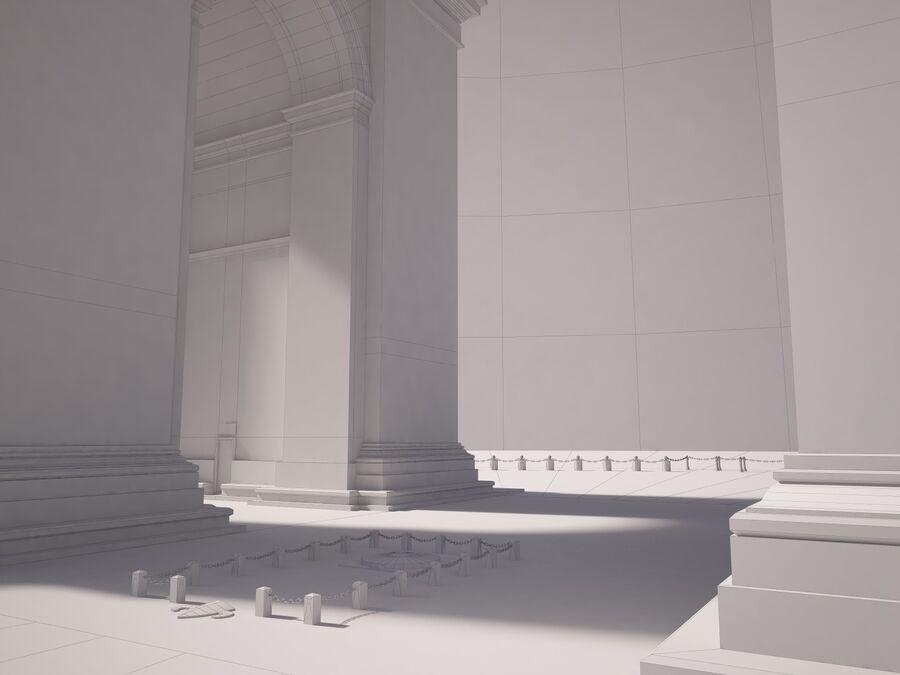 Paris Triumphal Arch royalty-free 3d model - Preview no. 16