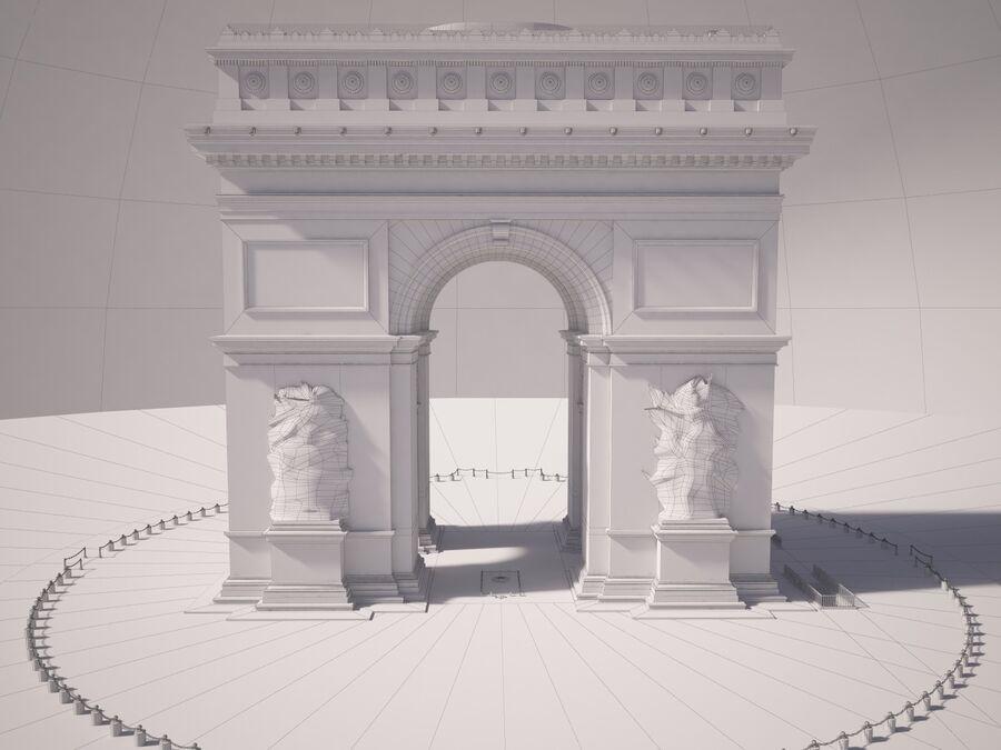 Paris Triumphal Arch royalty-free 3d model - Preview no. 15