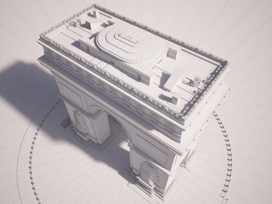 Paris Triumphal Arch royalty-free 3d model - Preview no. 18