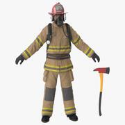 Feuerwehrmann sauber 3d model