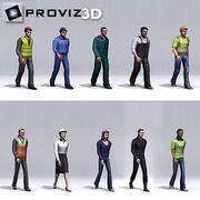3D人:步行3D工人卷。 01 3d model