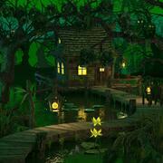 Maison dans le marais 3d model
