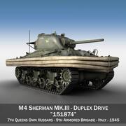 M4 Sherman MK.III - Дуплексный привод 3d model