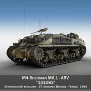 БРЭМ M4 Sherman MK.I - 151083 3d model