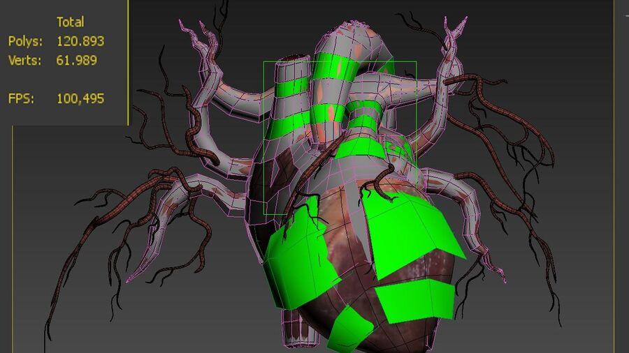Animowane serce człowieka royalty-free 3d model - Preview no. 7